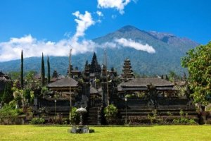 Besakih Temple with Mount Agung in the background